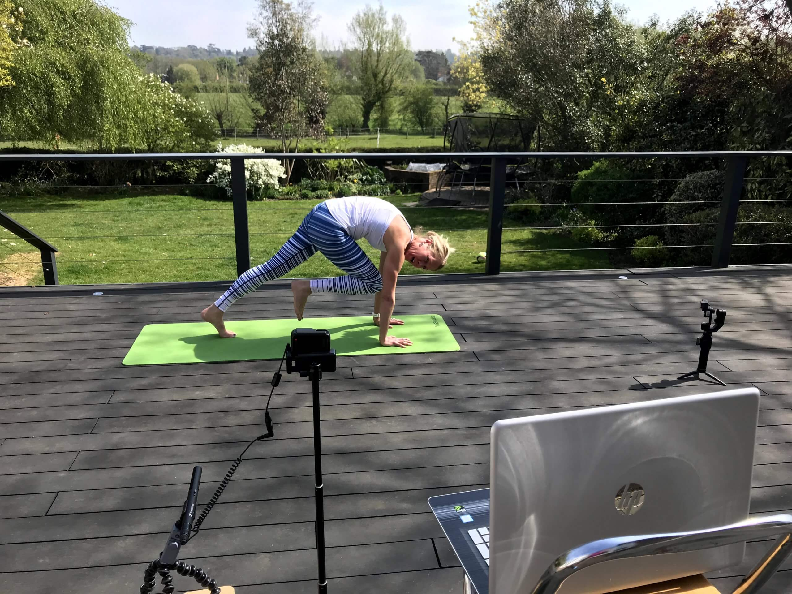 streamed yoga class
